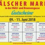 Gutscheine Mälscher Markt in der Mühlgasse, Brunnengasse – runterladen, ausdrucken !