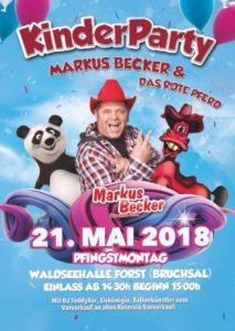 FORST, KINDERDISCO, Dj Teddybär, MARKUS BECKER und das rote Pferd, LIVE, 21.05. 1430 Uhr