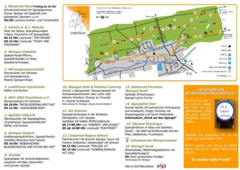 Kulinarische Wanderung um Spargel und Wein in Erpolzheim, 26.05 + 27.05.18