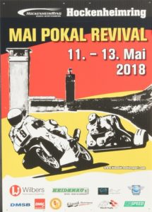 Maipokal Ankündigung Rennfahrer Nicolai Kraft, BMC Pressereferent Chris Sass, Hockenheimring Plakat