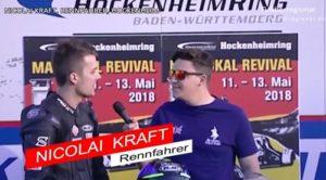 Maipokal Ankündigung Rennfahrer Nicolai Kraft, BMC Pressereferent Chris Sass, Hockenheimring, TVüberregional