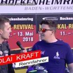 Maipokal Ankündigung Rennfahrer Nicolai Kraft, BMC Pressereferent Chris Sass
