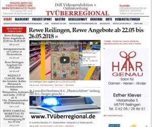 Rewe Reilingen, Rewe Angebote ab 22.05 bis 26.05.2018, TVüberregional, Haar Genau Klever, Friseur Reilingen,