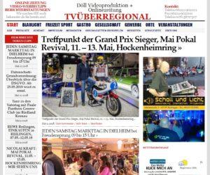 Treffpunkt der Grand Prix Sieger, Mai Pokal Revival, 11. – 13. Mai, Hockenheimring, Videoproduktion Hockenheim, TVüberregional