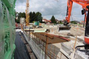 80 Tonnen Stahl wurden im Bereich der Bodenplatte für das nicht unterkellerte Pflegeheim verarbeitet