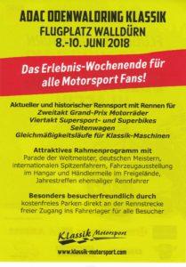 Odenwald Klassik, Flugplatz Walldürn, 08 - 10 Juni 2018, das Erlebnis Wochenende für alle Motorsport Fans