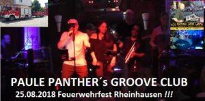 25.08.2018 Feuerwehrfest Rheinhausen Paule Panthers Groove Club, Schall und Licht,