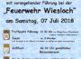 Grillfest des Stadtteilvereins Altwiesloch mit Führung am 07.07.18