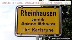 Oberhausen-Rheinhausen, ein Ort der seine Feuerwehr beispielhaft unterstützt, Ortsschild, Videoproduktion Rheinhausen,