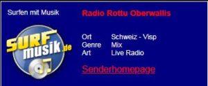 Radio Rottu Oberwallis, Schweiz. Urlaub buchen bei: Hotel, Bäckerei, Tea-Room, Imseng, CH - 3906  Saas-Fee, Dorfstrasse 35. Telefon: 00 41 27 958 12 58