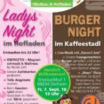 OPEN AIR, GROßEREIGNIS bei FREUDENSPRUNG am 07.09.18: Gonzo's Jam Musicband, Ladys Night im Hofladen, BURGER NIGHT im Kaffeestadl in Dielheim
