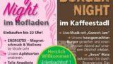 OPEN AIR, GROßEREIGNIS bei FREUDENSPRUNG am 07.09.18: Gonzo's Jam Musicband, Ladys Night im Hofladen,BURGERNIGHTim Kaffeestadl in Dielheim