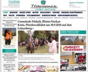 Gemeinde Malsch, Pferdewallfahrt, Segnung, Pferdesegnung, TVüberregional, Oliver Döll,