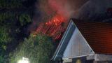 Gorxheimertal / Unter-Flockenbach: Dachstuhlbrand eines Retaurants