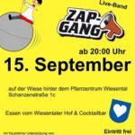Ministrantenfest Waghäusel – Wiesental, Eintritt frei, Schanzenstrasse 1 c, mit ZAP GANG am 15.09.18 Open Air Party Night