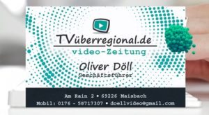 TVüberregional, Oliver Döll, Intro, Logo, Spot, Reilingen, Hockenheim, Waghäusel, Videoproduktion