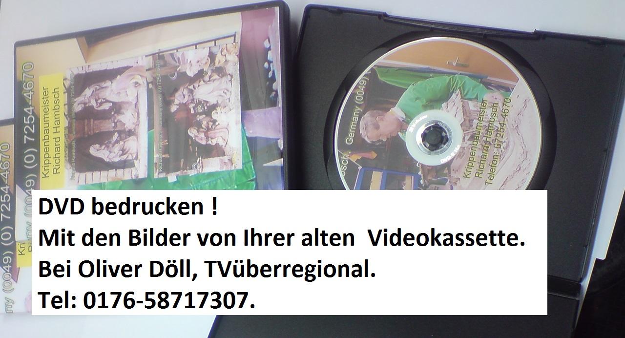 Videokassetten überspielen, Videokassetten überspielen, Videobearbeitungen, Oliver Döll, TVüberregional, Schallplatten auf USB überspielen, Schallplatten auf CD überspielen, Audiokassetten auf USB überspielen, Audiokassetten auf CD überspielen.