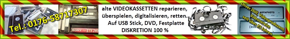 Videokassetten überspielen, digitalisieren, retten, Döll, TVüberregional, WordPress Headline,