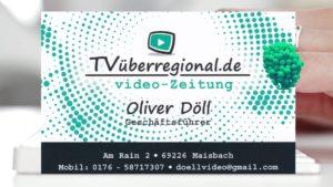 Videoproduktion Reilingen, Oliver Döll, TVüberregional, Videokassetten überspielen, Werbevideoproduktion,