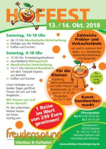 Hoffest in Dielheim bei Freudensprung im Oktober 2018