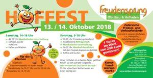 Hoffest in Dielheim bei Freudensprung im Oktober 2018 Veranstaltungshinweis