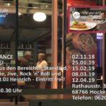 DINNER & DANCE, Restaurant Rondeau in Hockenheim.Tanzmusik aus den Bereichen Standard, Latein, Boogie, Jive, Rock 'n' Roll und Freestyle mit DJ Heinrich – Eintritt frei!