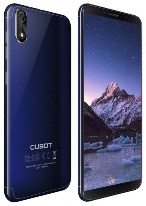 Cubot J3 Dual-SIM Smartphone (12,63 cm (5 Zoll) Full-Wide VGA TN Touch-Display,16GB interner Speicher, Android 8.1 Oreo(Go Edition) Handy Ohne Vertrag, Face