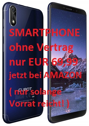 Cubot J3, Dual-SIM, Smartphone, Full-Wide, VGA , TN Touch-Display, 16GB interner Speicher, Android 8.1 Oreo, Handy, Ohne Vertrag,
