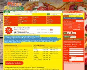 Pizza Piccola Baiertal