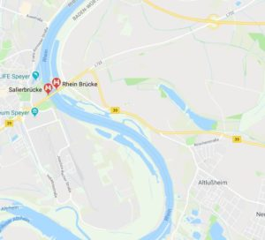 Speyer, Hockenheim, Altlußheim, B39, für 26 Monate gesperrt