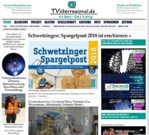 Schwetzingen: Spargelpost 2018 ist erschienen, Titelseite TVüberregional, Oliver Döll