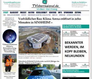 Vorbildlicher Bau, Klima Arena eröffnet in zehn Monaten in SINSHEIM! TVüberregional , Titelseite , Onlinezeitung , Kraichgau Regional