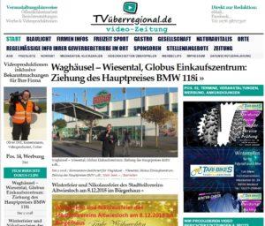Waghäusel – Wiesental, Globus Einkaufszentrum, Ziehung des Hauptpreises BMW 118i