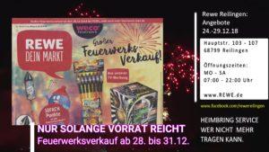 REWE, Reilingen, Angebote ab 24. bis 29.12.2018, Öffnungszeiten: Montag bis Samstag von 07 Uhr bis 22 Uhr.