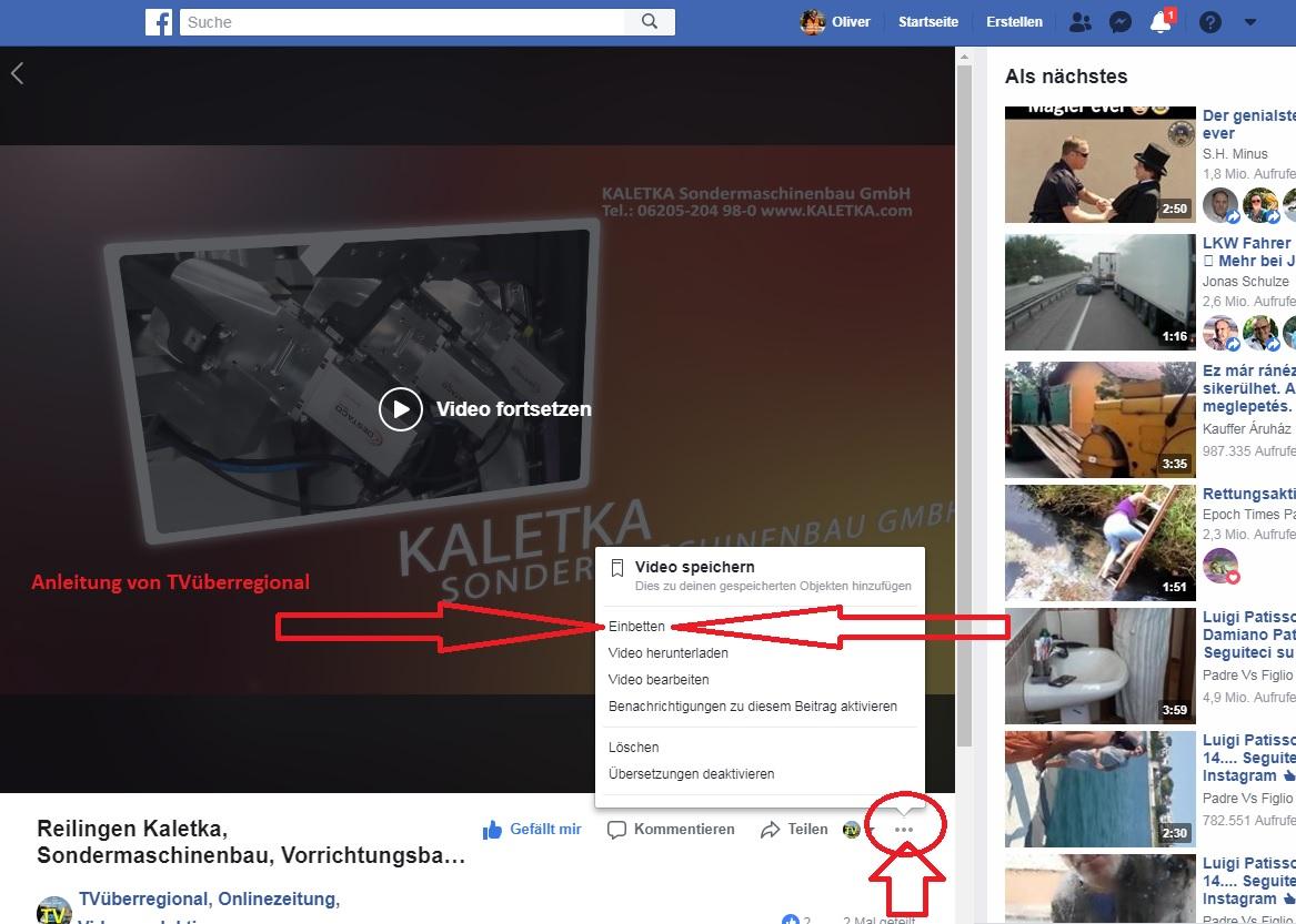 04 Anleitung: Video von Facebook als Datei herunter laden
