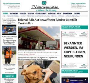 Baiertal, Mit Axt bewaffneter Räuber überfällt Tankstelle, Onlinezeitung Baiertal, Total Tankstelle, TVüberregional