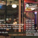 DINNER & DANCE im Restaurant Rondeau in Hockenheim.Eintritt frei!