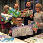 Hockenheim, Maßnahme zum Jubiläumsjahr – bunte Bauzäune sollen zum Blickfang werden