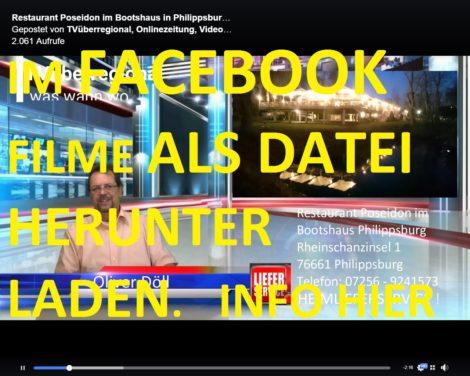 Anleitung: Video von Facebook als Datei herunter laden