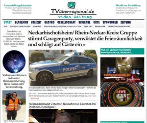 Neckarbischofsheim, Rhein-Neckar-Kreis, Gruppe stürmt Garagenparty, verwüstet die Feierräumlichkeit und schlägt auf Gäste ein