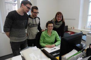Das Team Bauamt v.l. Tobias Hardtmann, Dominik Karl, Ramona Drexler und Petra Brandenburger. Es fehlt Christine Deininger.