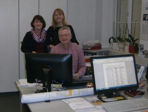 Das Team Standesamt/Grundbucheinsichtsstelle v.l. Ute Heger, Sandra Schmidt und Uwe Schuppel.