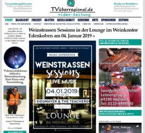 Weinstrassen Sessions in der Lounge im Weinkontor Edenkoben am 04. Januar 2019