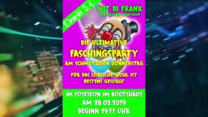 Faschingsparty, 28.02.19, Poseidon Bootshaus Philippsburg