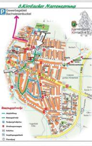 Narrensprung Kirrlach 2019 Landkarte
