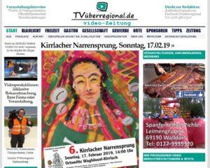 Narrensprung Kirrlach, Oberdorfstrasse 2, am 17-02-19 ab 14 Uhr, tvüberregional