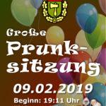 Prunksitzung Ankündigung Kirrlacher Karnevals Gesellschaft 09.02.19 ab 19 Uhr