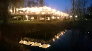 Griechisches Restaurant Poseidon im Bootshaus in Philippsburg am Wasser