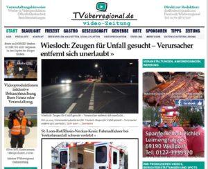 Wiesloch, Baiertal, Zeugen für Unfall gesucht – Verursacher entfernt sich unerlaubt, Onlinezeitung TVüberregional
