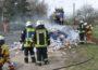 Ladung eines Müllwagens fing Feuer